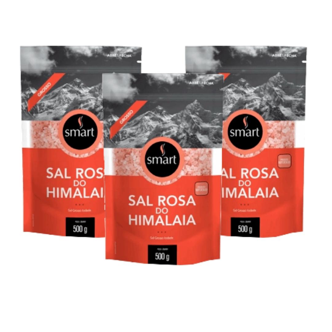 Sal Rosa do Himalaia Grosso Smart 500g - Kit com 3