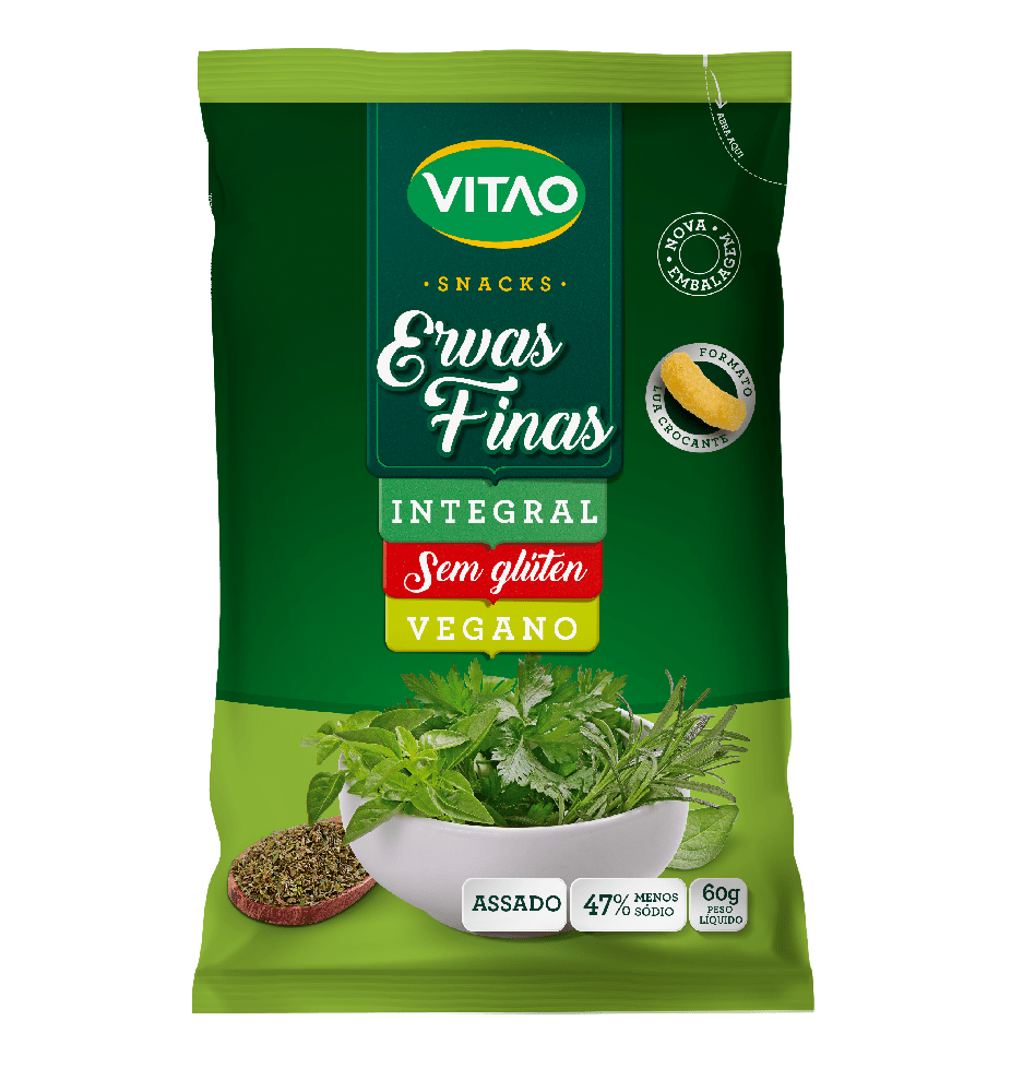 Salgadinho integral de ervas finas Vitao 60g