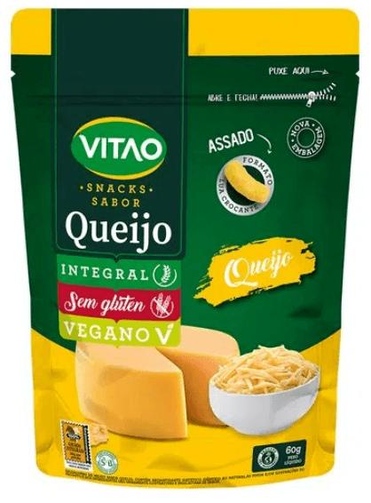Salgadinho integral de queijo Vitao 60g