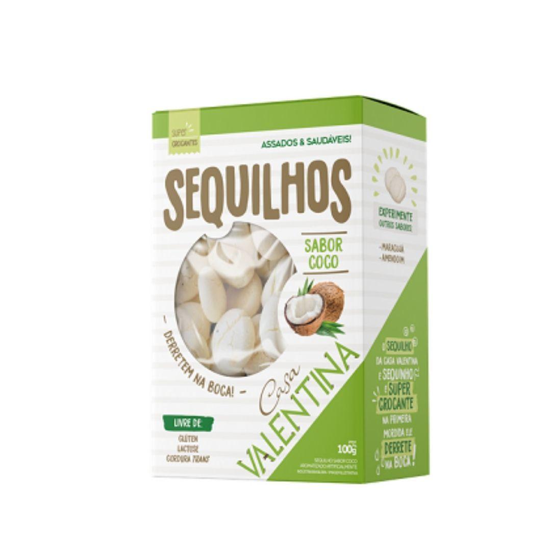 Sequilhos sabor Coco Sem Glúten e Lactose Casa Valentina100g