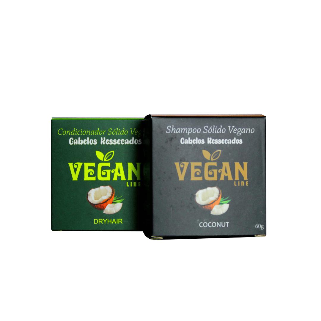 Shampoo e Condicionador Sólido Coco e Karitê Vegano Vegan Line