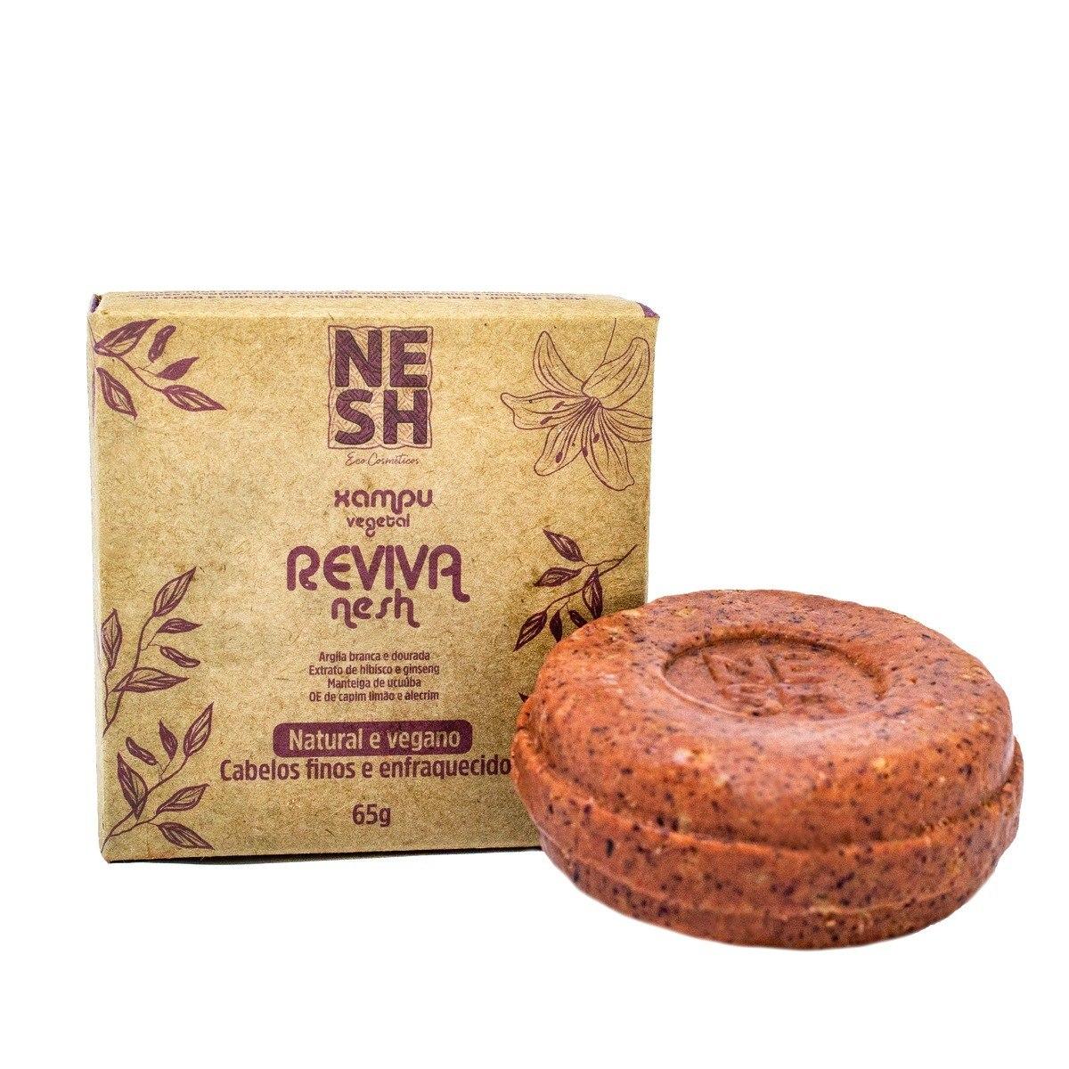 Shampoo em Barra Natural e Vegano ReVIVA - Nesh Cosméticos 65g