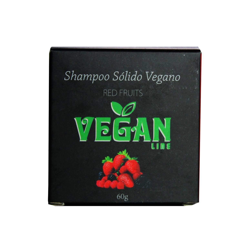 Shampoo Sólido Vegano Frutas Vermelhas Vegan Line 60g