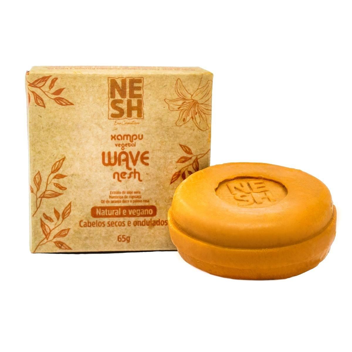 Shampoo em Barra WAVE Natural e Vegano - Nesh Cosméticos 65g