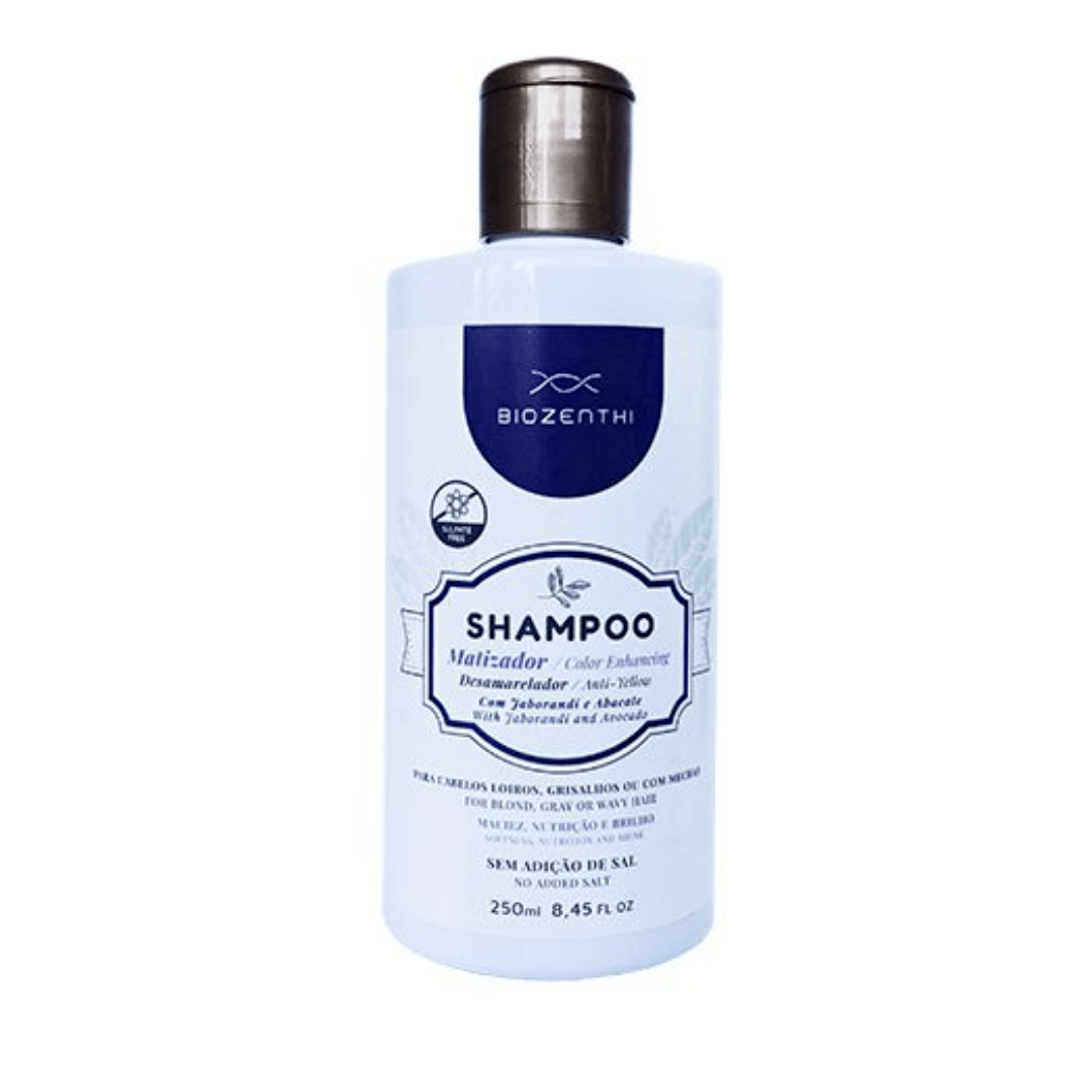 Shampoo Matizador Desamarelador Vegano Biozenthi  - 250ml