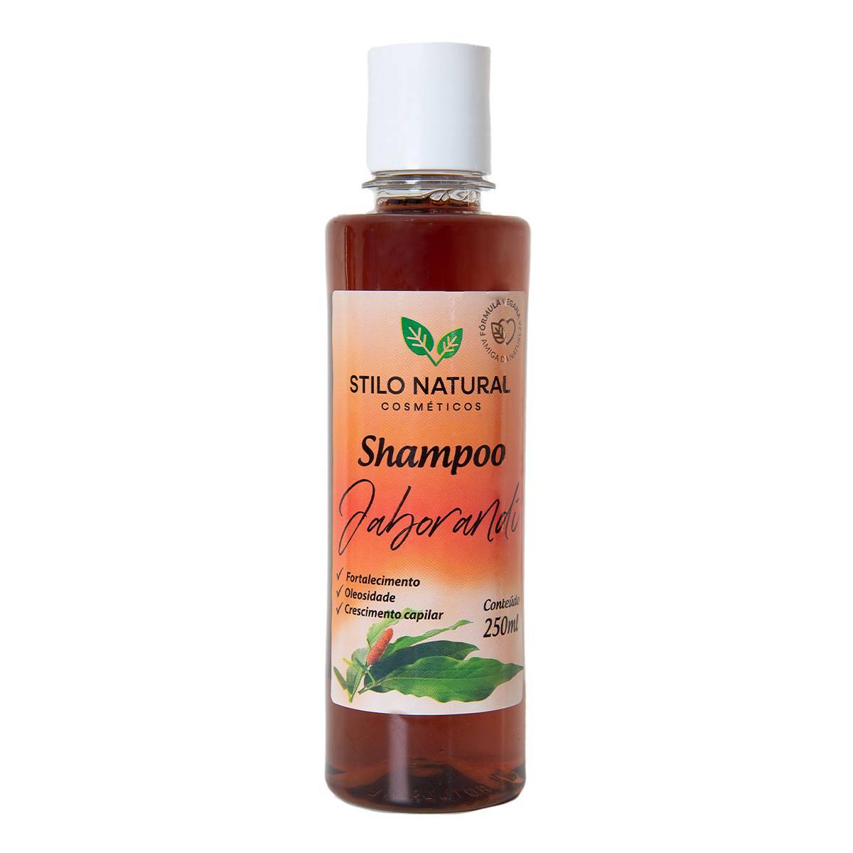 Shampoo Natural e Vegano, Jaborandi, Cabelos Saudáveis, Fortes e com Brilho, Stilo Natural