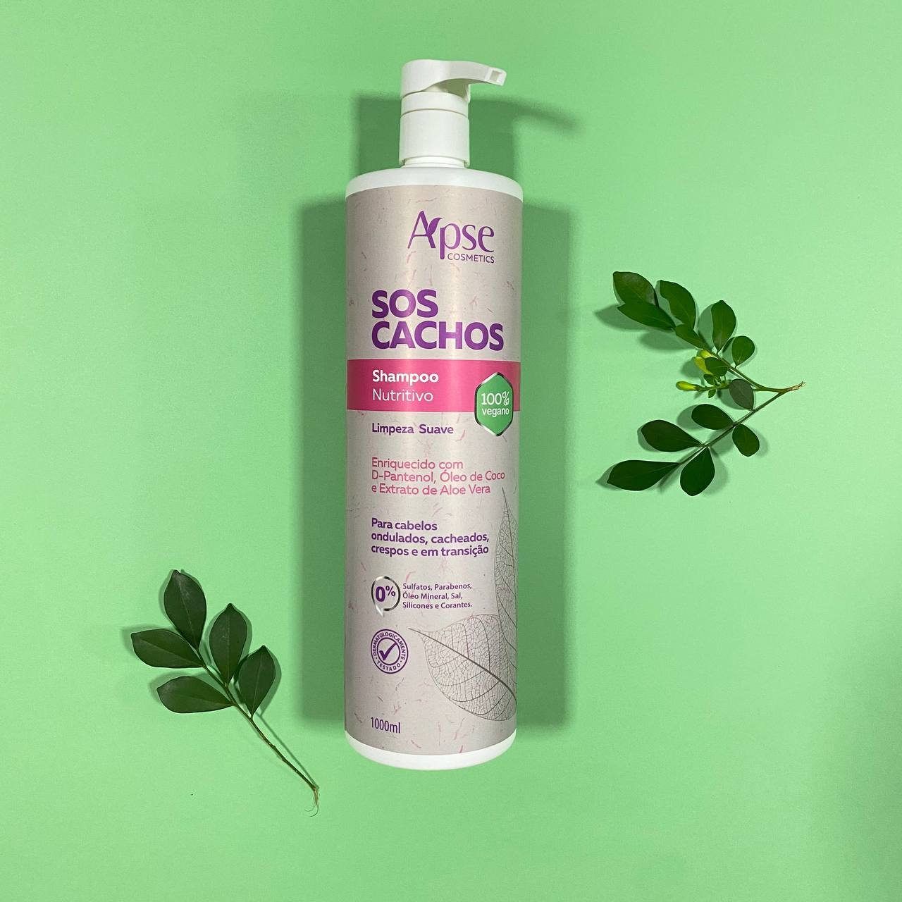 Shampoo Nutritivo Cachos - Apse Cosmetics 1000ml