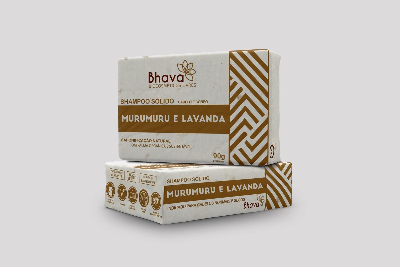 Shampoo sólido Lavanda e Murumuru 90g Lançamento linha LIXO ZERO