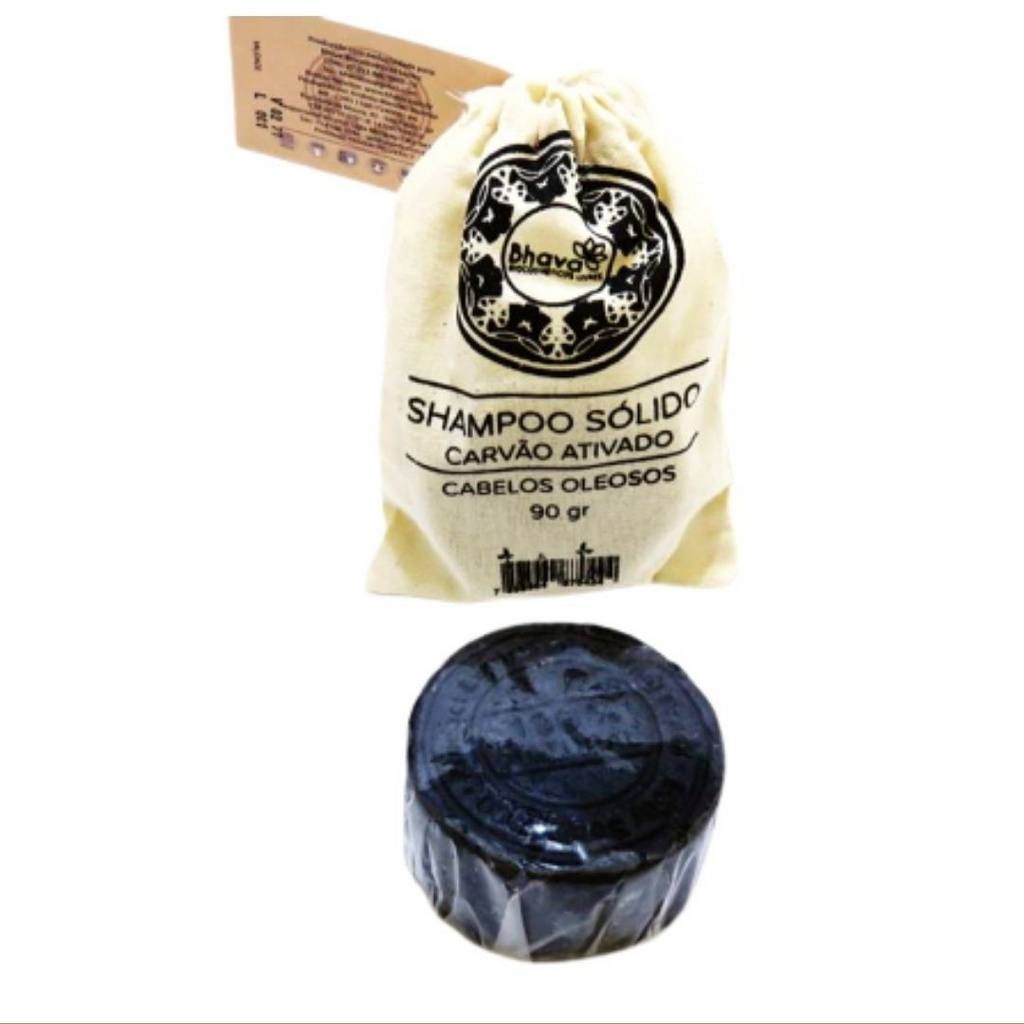 Shampoo Sólido para Cabelos Oleosos Vegano Bhava 90g