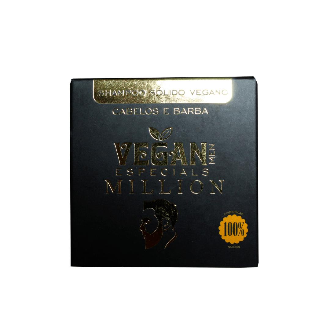 Shampoo Sólido Vegano Cabelos e Barba Vegan Men 60g