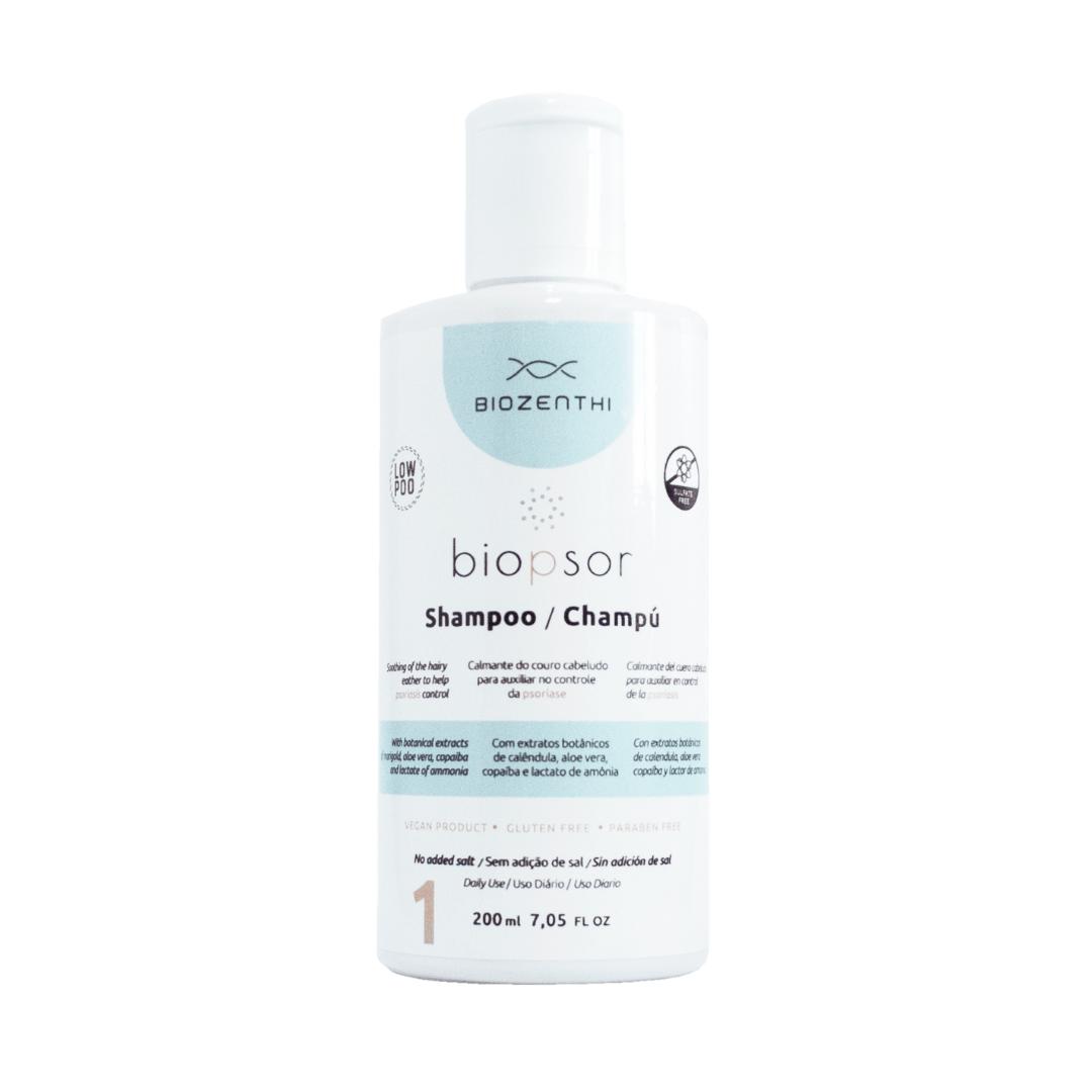 Shampoo Vegano Biopsor para Psoríase - Biozenthi 200 ml