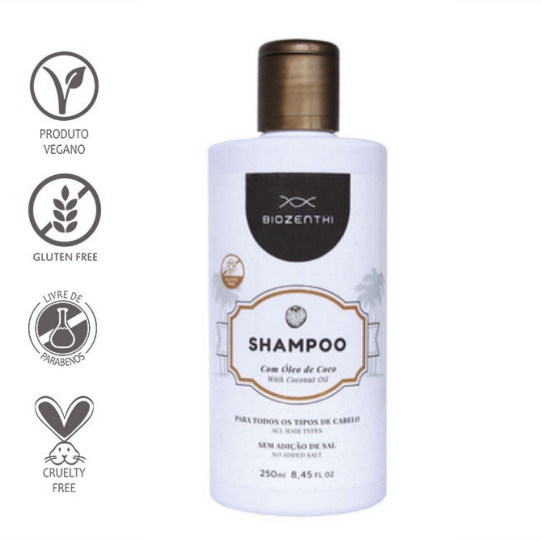 Shampoo Vegano com Óleo de Coco 250ml – Biozenthi