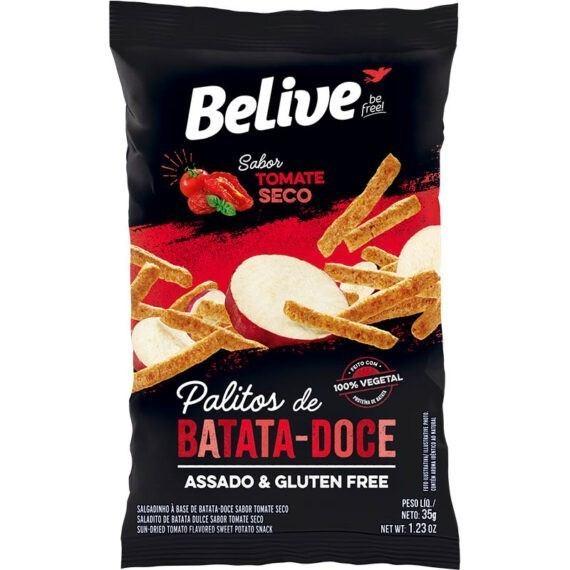 Snack de batata doce sabor tomate seco Belive 35g