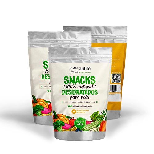 Snacks de Moela de Frango Aulife 40g Kit com 3