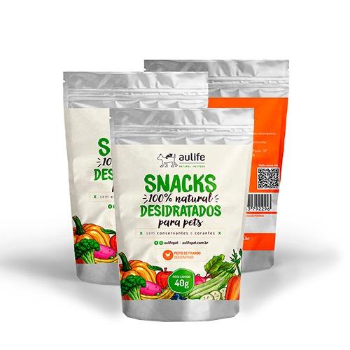 Snacks de Peito de Frango Aulife 40g Kit com 3
