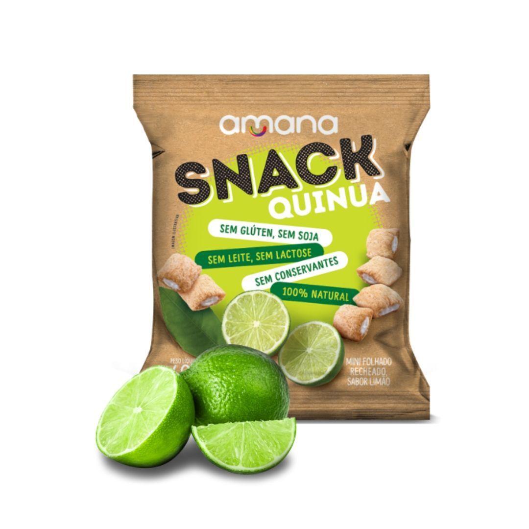 Snack de Quinua Sem Glúten Recheio de Limão Amana 40g
