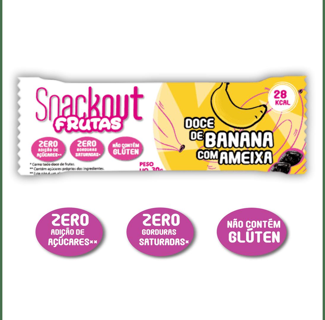 Snackout Frutas - Banana com Ameixas 30g