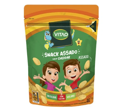 Snacks integral cheddar kids Vitao 40g