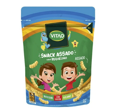 Snacks integral requeijão kids Vitao 40g