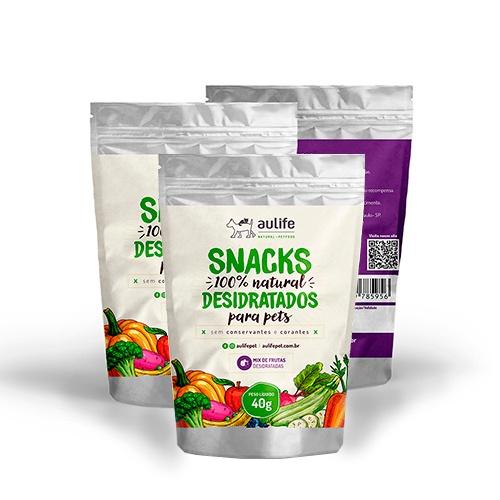 Snacks Mix de Frutas Aulife 40g Kit com 3