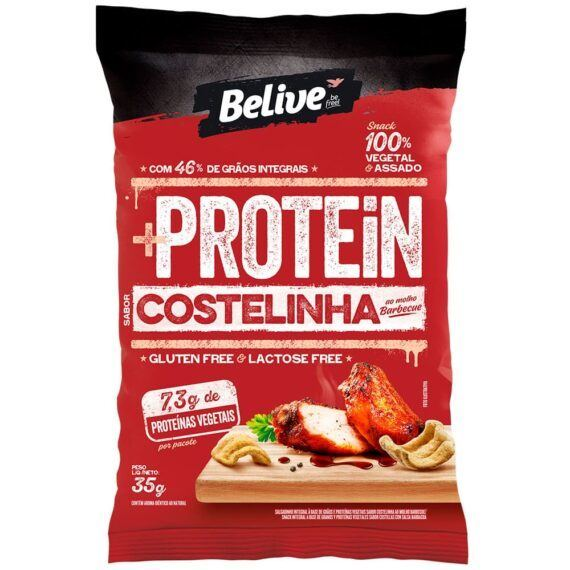 Snacks protein costelinha ao molho barbecue Belive 35g