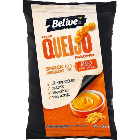 Snacks queijo nacho Belive 35g