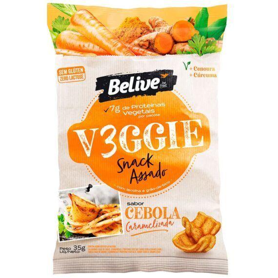 Snacks vegano cebola caramelizada Belive 35g