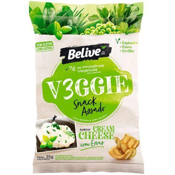 Snacks vegano cream cheese com ervas Belive 35g