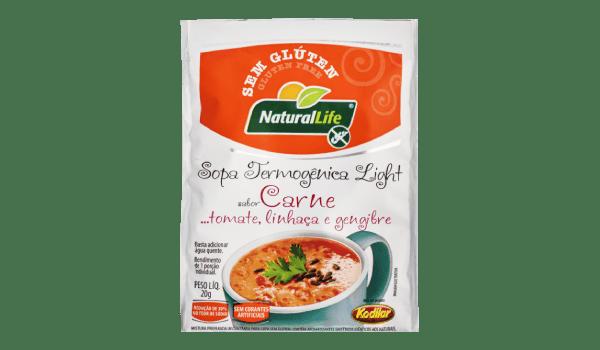 Sopa termogênica sabor carne, tomate, linhaça e gengibre Natural Life 20g
