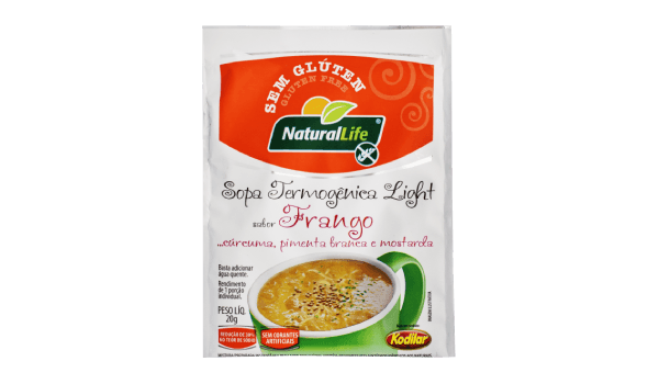 Sopa termogênica sabor frango, cúrcuma, pimenta branca e mostarda Natural Life 20g