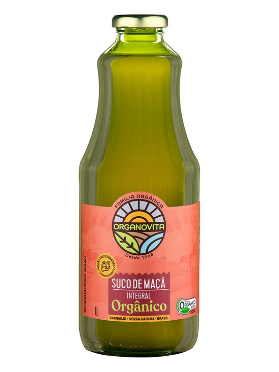 Suco de Maçã Integral Orgânico Organovita 1L