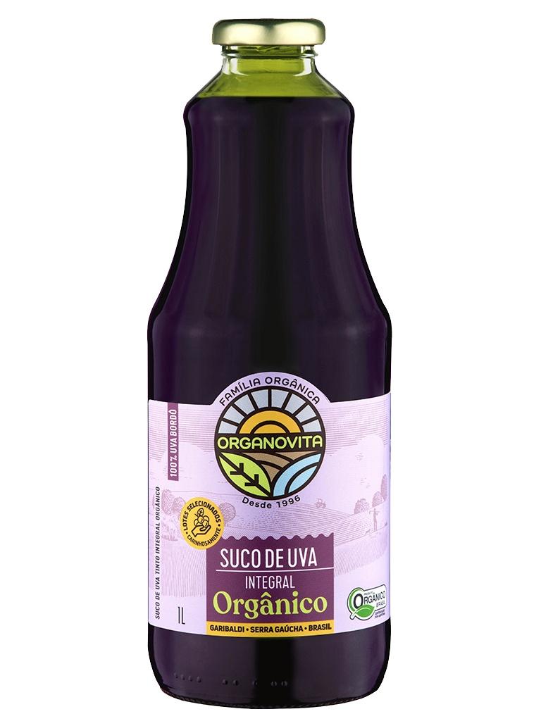 Suco de Uva Integral Orgânico Organovita 1L - 100% Bordo