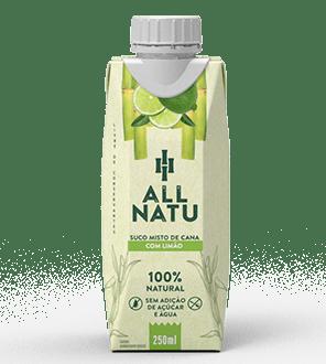 Suco misto de Cana com Limão All Natu 250 ml