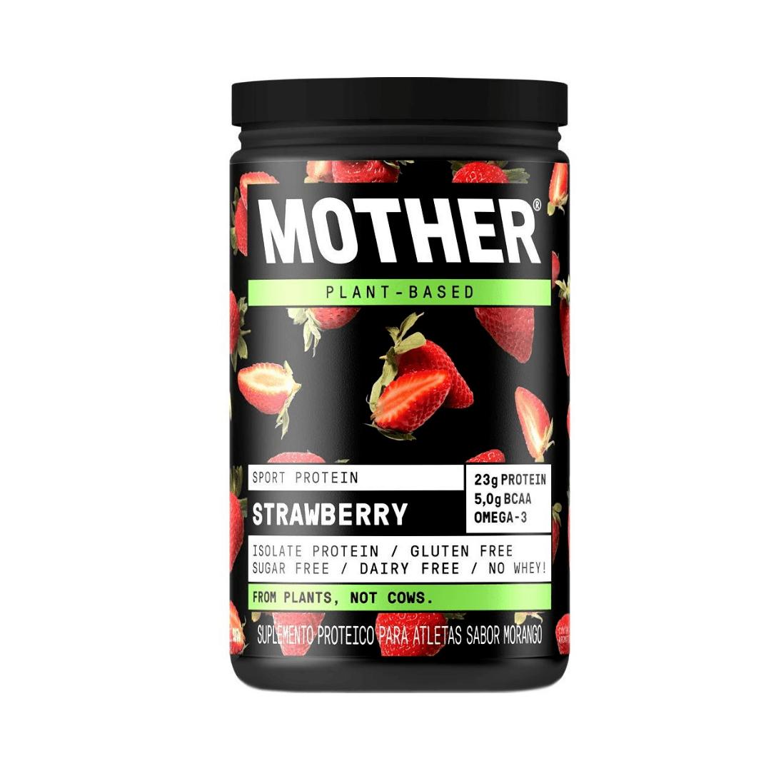Suplemento Vegano de Proteína Isolada Morango - Mother 527g