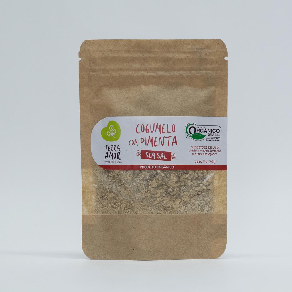 Tempero Natural Cogumelo E Pimenta - Terra Amor 30g