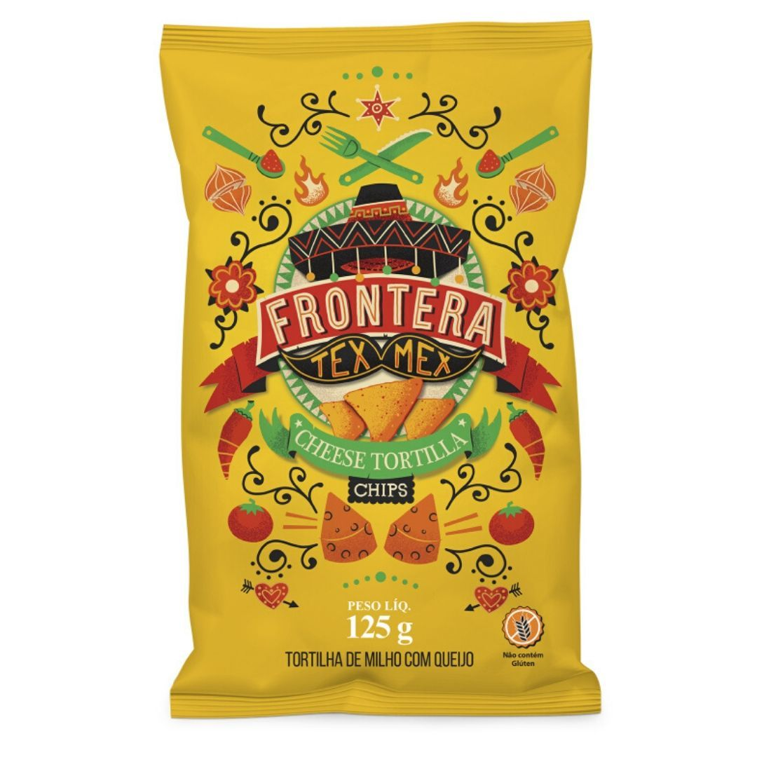 Tortilha TEX MEX Sem Glúten Queijo Frontera 125g