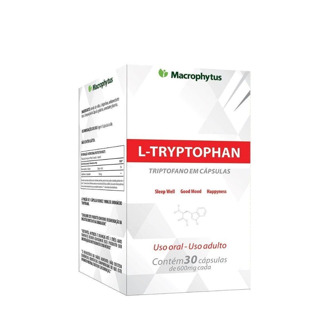 Triptofano Suplemento Alimentar Natural Macrophytus 30 Cap