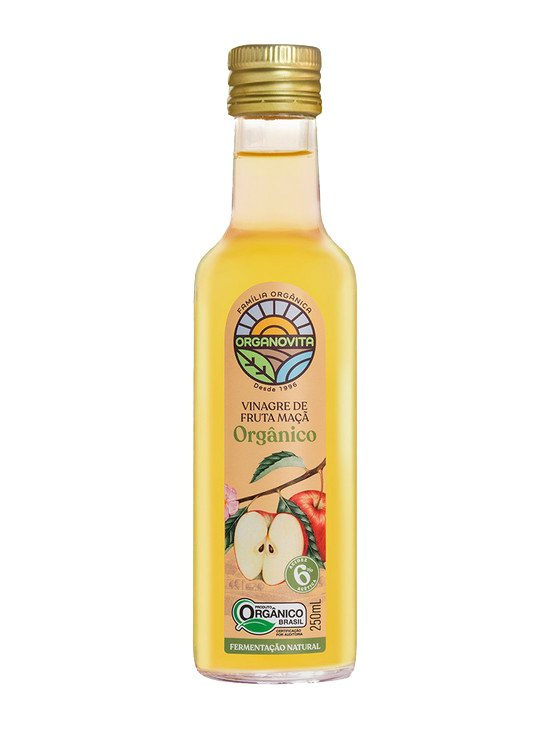 Vinagre de Fruta Maçã Orgânico Organovita 250ml