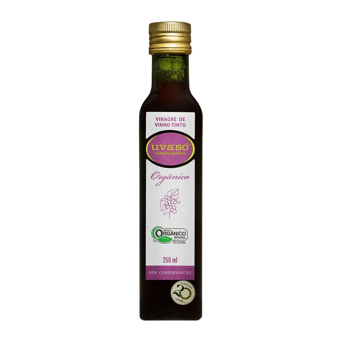 Vinagre de Vinho Tinto Orgânico  Uva'Só 250ml