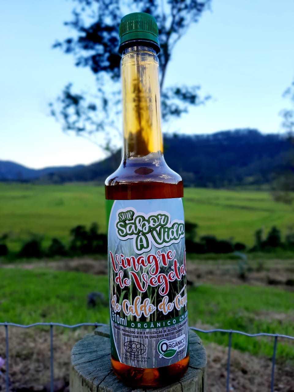 Vinagre Vegetal de Caldo de Cana Orgânico - SMP Sabor à Vida 510ml