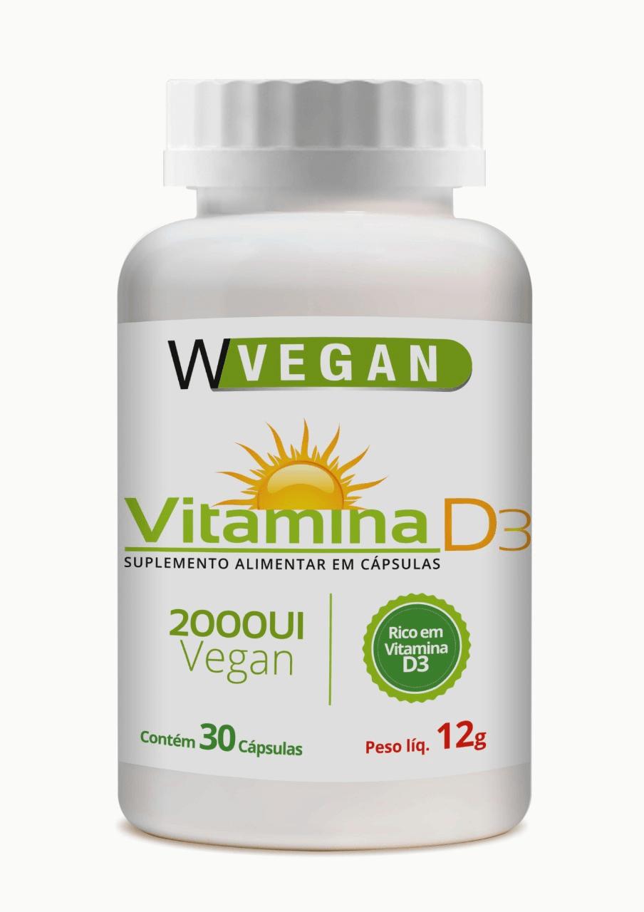 Vitamina D3 2000 UI 30 capsulas WVegan 2.000UI