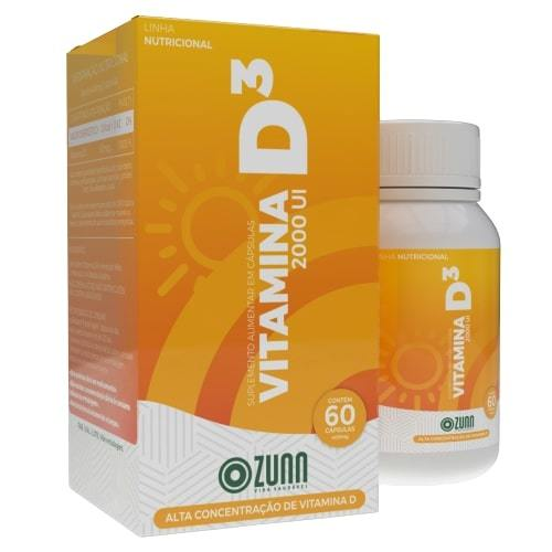 Vitamina D3 2000 UI - 60 cápsulas