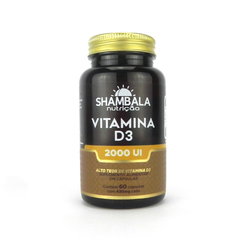 Vitamina D3 2000Ui Shambala - 60 cápsulas