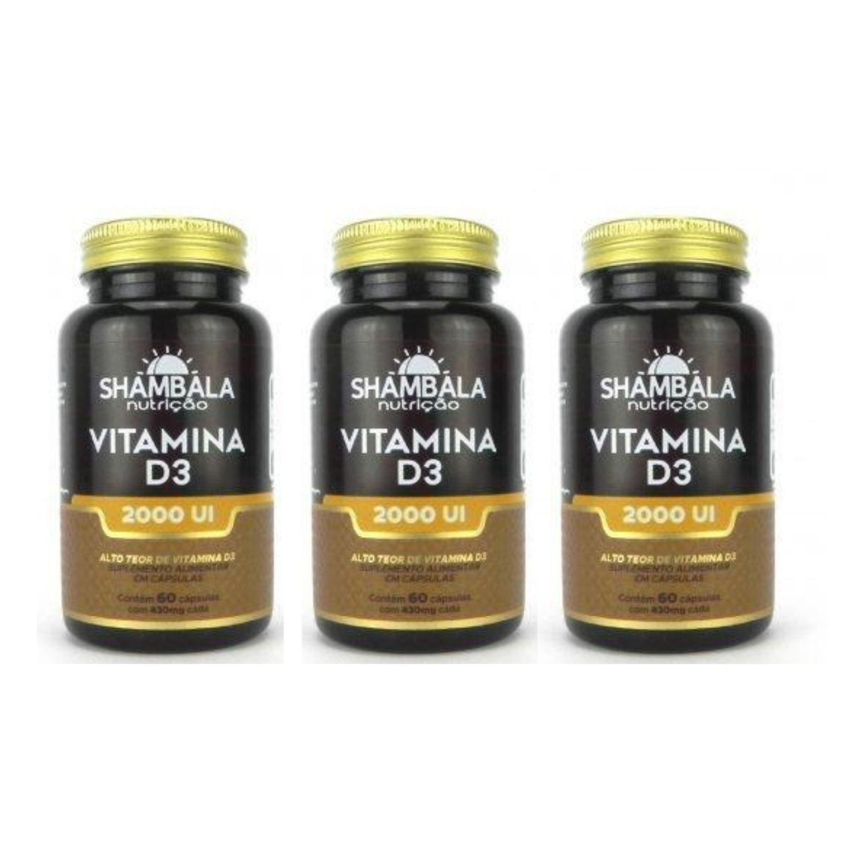 Vitamina D3 Shambala 60 Caps X 430mg Kit com 3