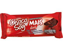 Wafer coberto com chocolate chocosoy mais tipo bis Diet Olvebra 62g
