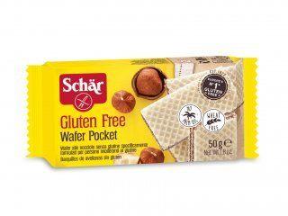 Wafer recheado com creme de avelã wafer pocket Dr. Schar 50g
