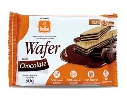 Wafer recheado sabor chocolate Belfar 50g