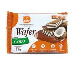 Wafer recheado sabor coco Belfar 55g