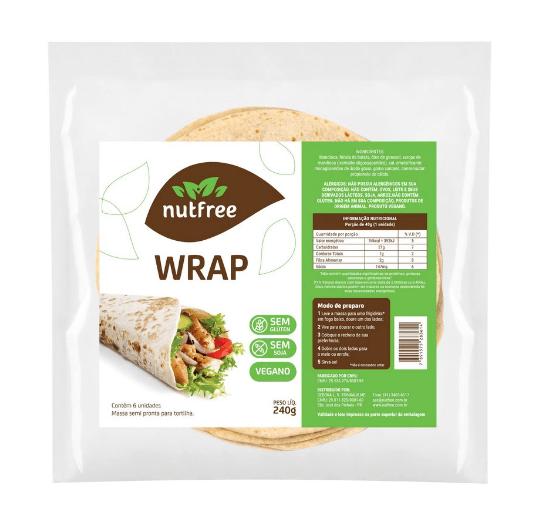Wrap vegano NutFree 240g - 6 unidades