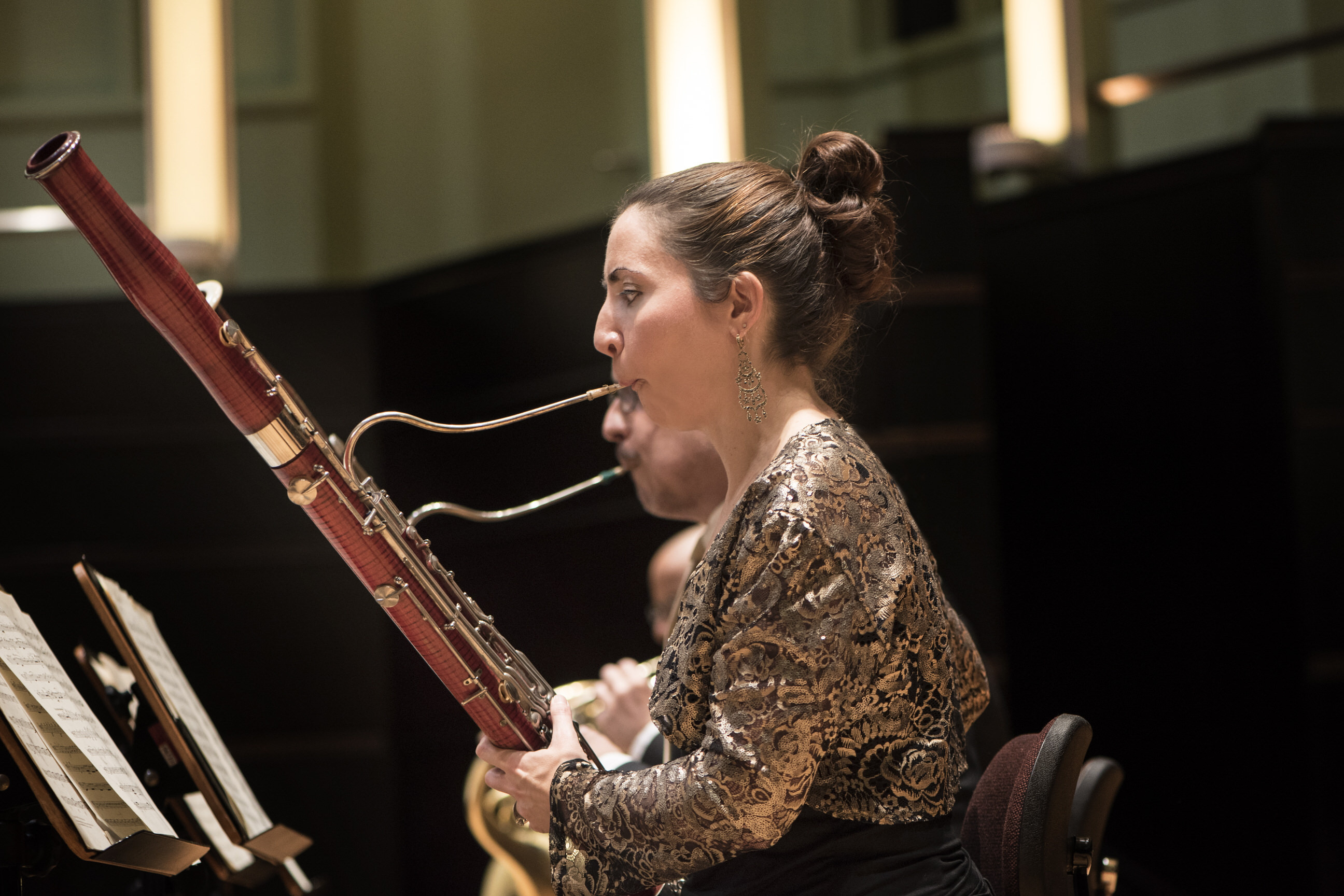 Gina Playing bassoon